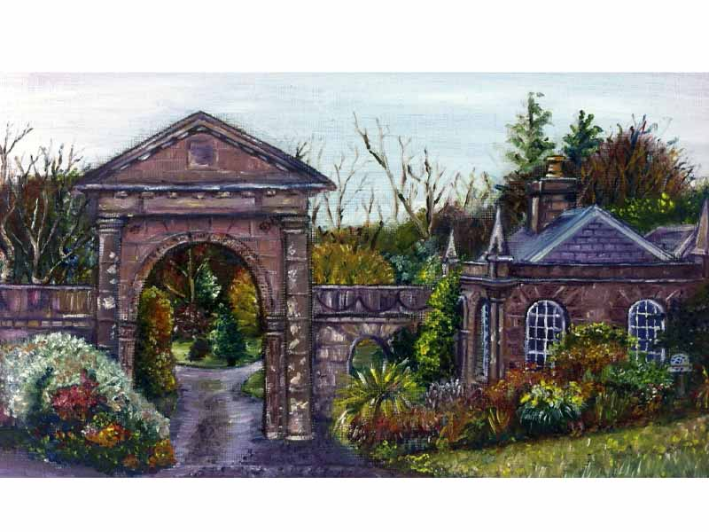 Oil Painting of The Gate Lodge at Downhill Estate, Co. Derry