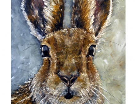 Irish Hare Oil Painting